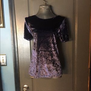 Cynthia rowley crushed velvet top